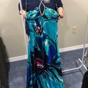 BEAUTIFUL FLORAL PROM DRESS 👗❗️❗️